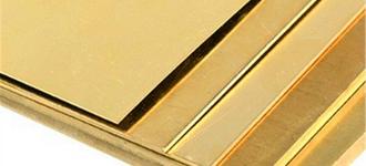 Лист латунный холоднокатаный мягкий толщиной 0,4 мм и размером 600х1500 мм из сплава Л63