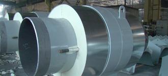 Неподвижная опора в пеноплиуретановой изоляции с оцинкованной оболочкой 25х2,5/100 из стали Ст3