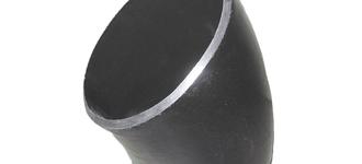 Отвод стальной бесшовный приварной крутоизогнутый (45 градусов) условным диаметром 15 размером 21,3х2,0 из стали Ст20 типа 3D в исполнении 1