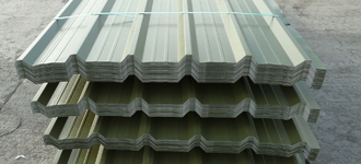 Профнастил стальной с полимерным покрытием в цветах RAL С8-1150 размером 0,35х1205 мм