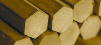 Бронзовый шестигранник диаметром 10 мм из сплава БрАМц9-2 длиной 3 м