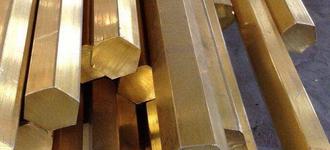 Латунный полутвёрдый холоднокатаный шестигранник диаметром 7 мм из сплава ЛС63-3 длиной 3 м